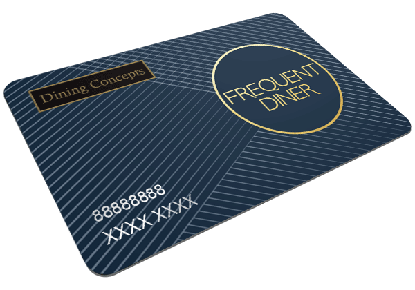 Frequent diner card