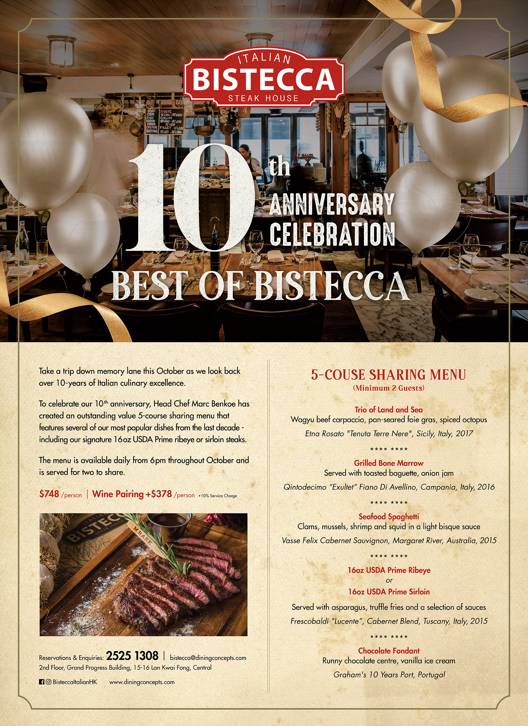 Best of Bistecca - 10th Anniversary Celebration