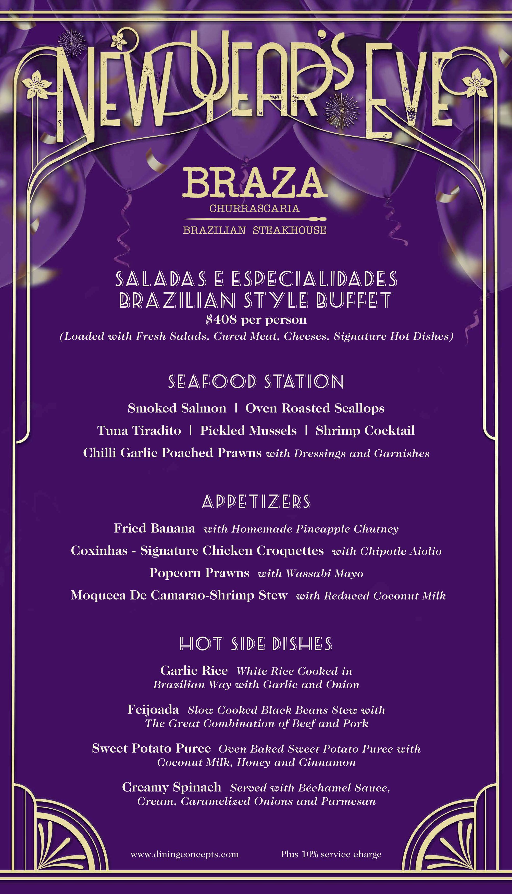 New Years Menu Page 1